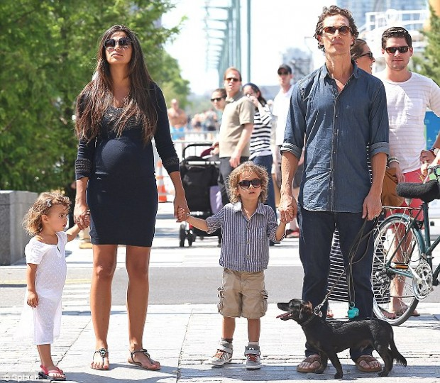 McConaughey With His Family