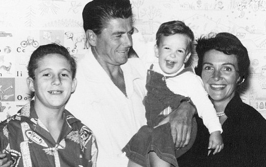 The Reagan Family is pictured At circa 1960.