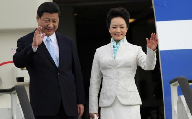 Chinese President Xi Jinping With His Wife  Peng Liyuan