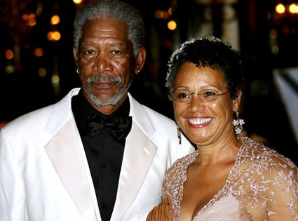 Morgan Freeman with his second wife Myrna Colley-Lee
