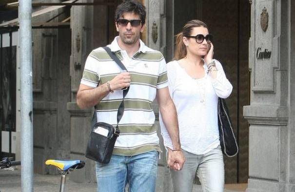 Gianluigi Buffon with his ex wife  Alena Seredova