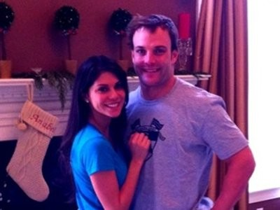 Wes Welker  With His Wife Anna Burns