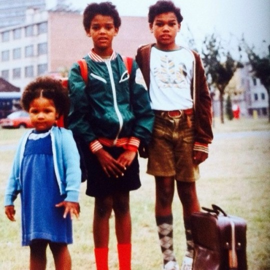 Stromae (Middle) with his Sister and brother