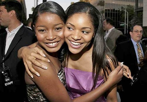 Keke Palmer With His twin sister