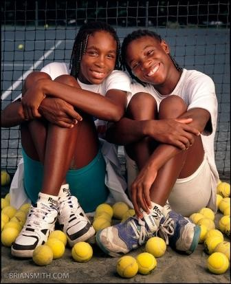 Venus and Sister Serena Williams Young