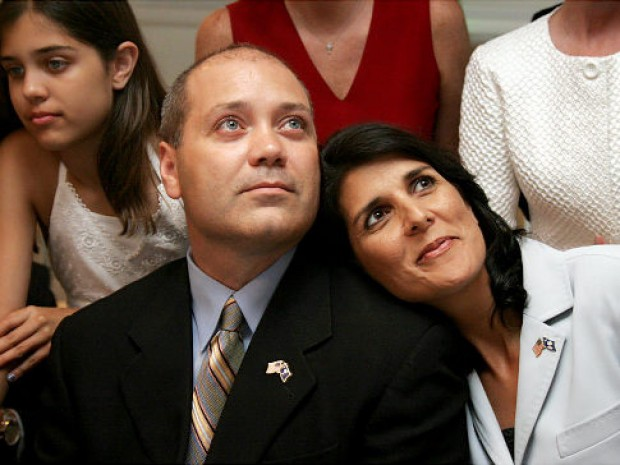 Nikki Haley with Her Husband Michael Haley