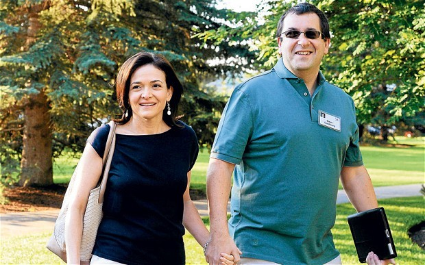 Sheryl Sandberg, and husband David Goldberg