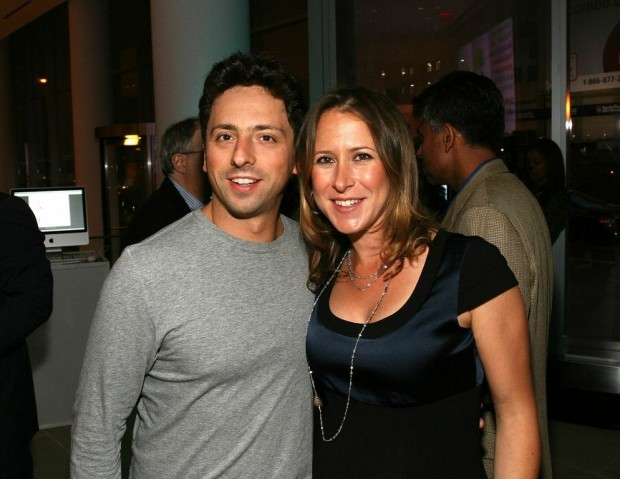 Anne Wojcicki With Her Former Husband Sergey Brin