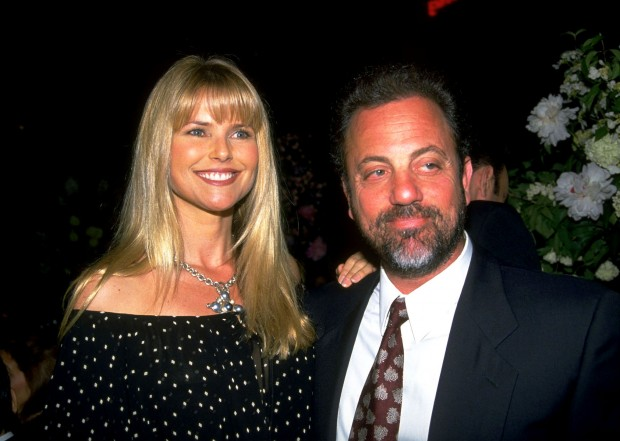 Billy Joel with His Second Wife Christie Brinkley