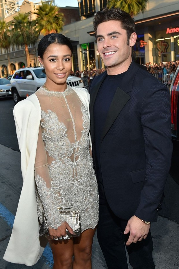 Zac Efron With His Partner Sami Miro