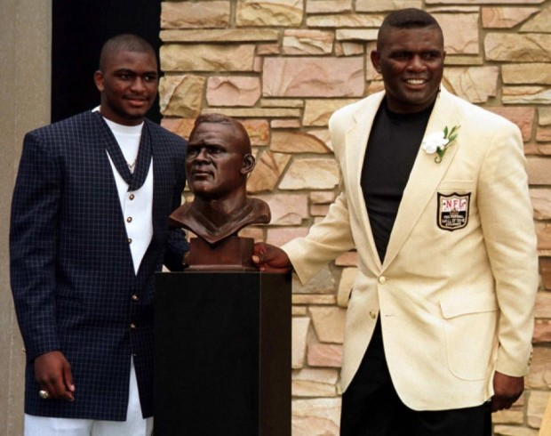 Lawrence Taylor With His Son Taylor.Jr