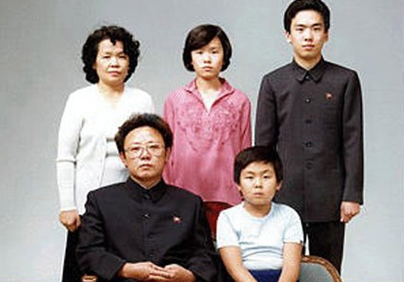 Kim Jong-un's childhood photo with his Family