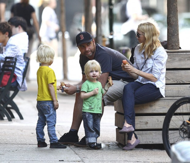 Naomi Watts Family Enjoying Ice Cream in NYC.