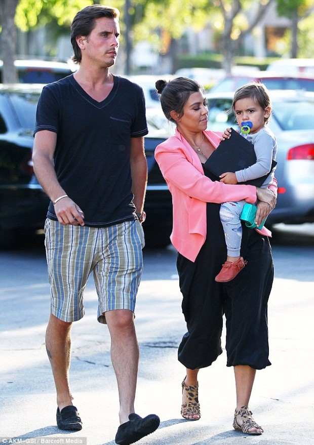 Kourtney With Her Family