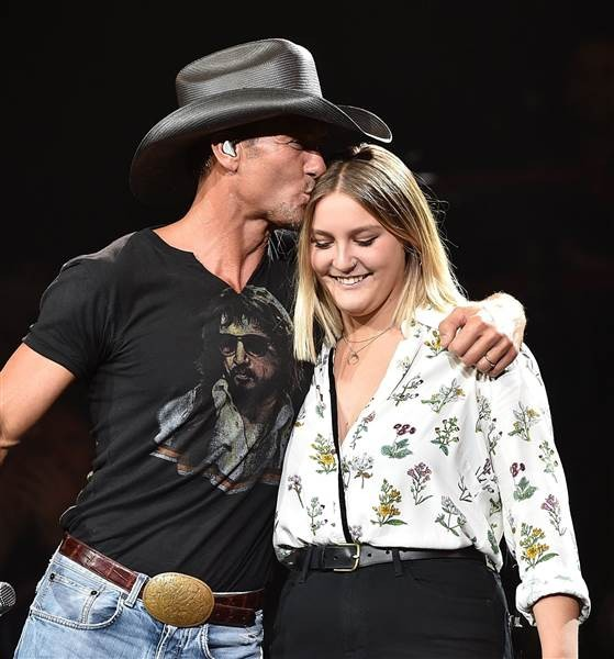 Tim McGraw with Her Daughter Audrey Caroline McGraw
