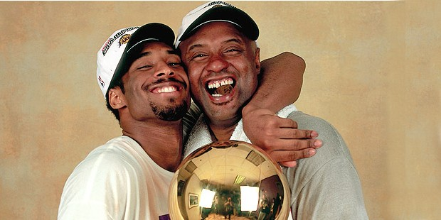 Kobe with His Father Joe Bryant