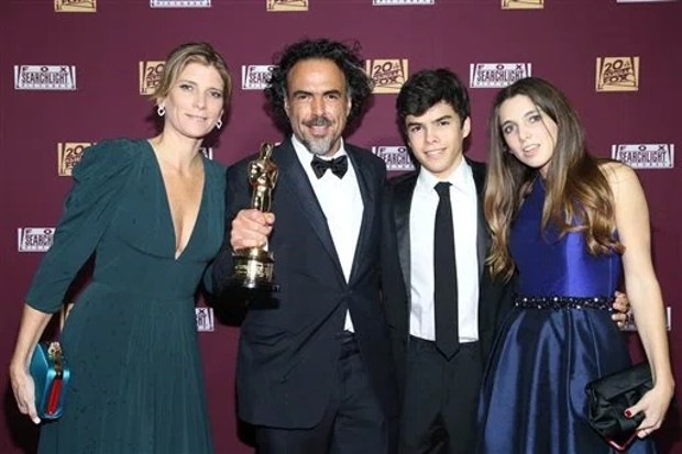 Alejandro González Iñárritu With His Family At Oscar Event
