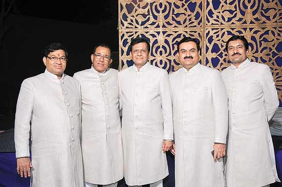 Gautam Adani with His Brothers