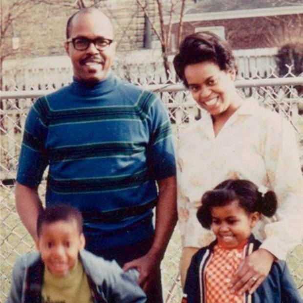 Michelle Obama With Her Parents