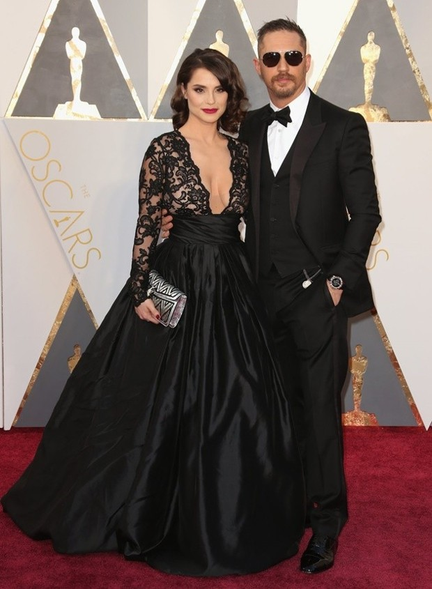 Tom Hardy and His Wife at event of Oscars