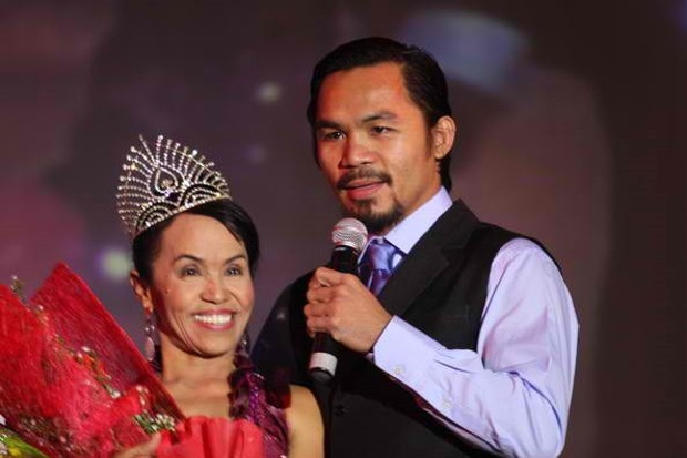 Manny Pacquiao With His Mother Dionisia Pacquiao