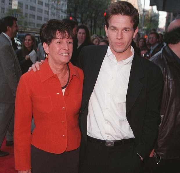 Mark Wahlberg With His Mother