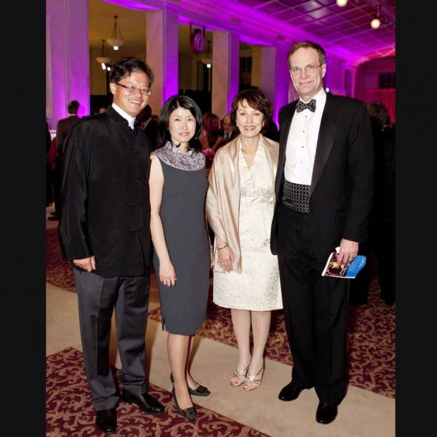 Jerry Yang and his wife Akiko Yamazaki, with Jan and Brent Assink.