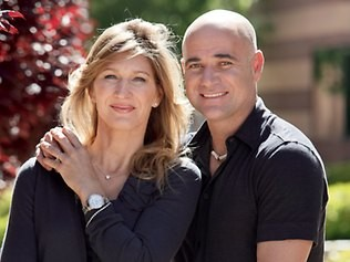 Steffi Graf and Her Husband Andre Agassi