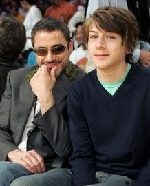 Robert John Downey, Jr. Son In An Event