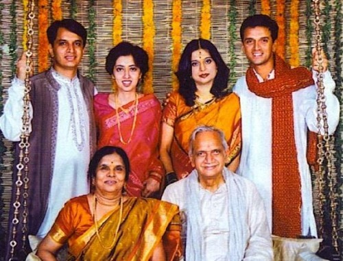 Rahul Dravid His Family Members
