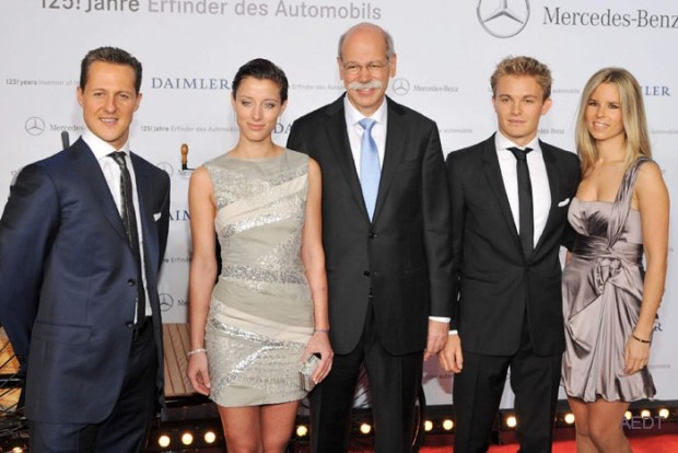 Dieter Zetsche and daughter Nora at an Event
