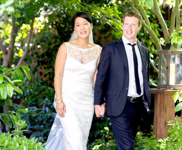 Mark Zuckerberg with His Wife On His Wedding Day