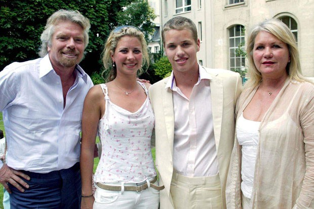 Richard Branson with Family