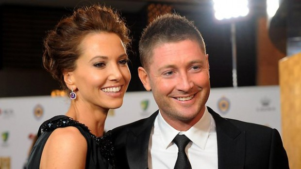 Michael Clarke With His Wife Kyly Clarke