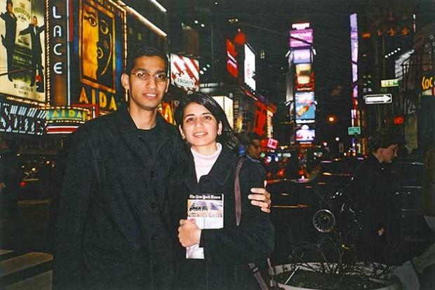 Sundar Pichai With Wife in 2002