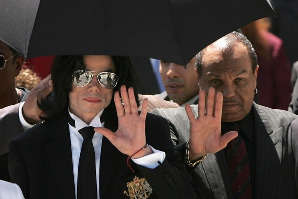 Michael Jackson with Dad