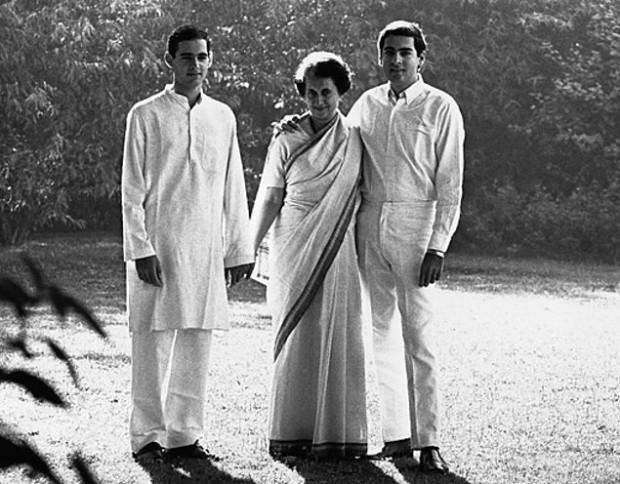 Indira Gandhi with her Son Rajiv Gandhi