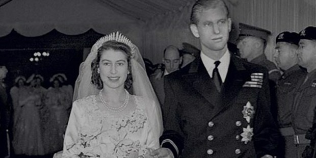 Royal wedding of Queen Elizabeth II with Prince Philip in the Year 1947