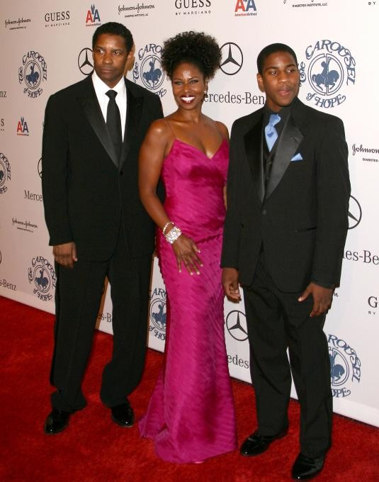 John David Washington With Father Denzel and Sister katia