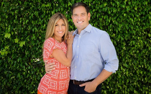Marco Rubio With His Wife Jeanette Dousdebes