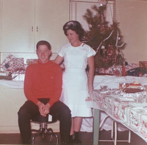 Bill Clinton and his Mother Virginia Clinton in 1963