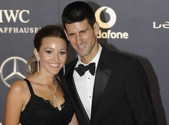 Novak Djokovic With His wife Jelena Djokovic