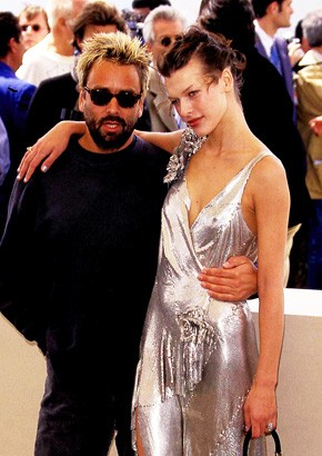 Milla Jovovich With His Second Ex-Husband Luc Besson