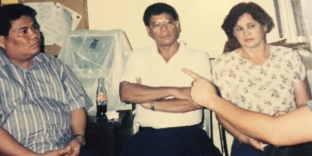 Rodrigo Duterte With His Wife 	Elizabeth Abellana