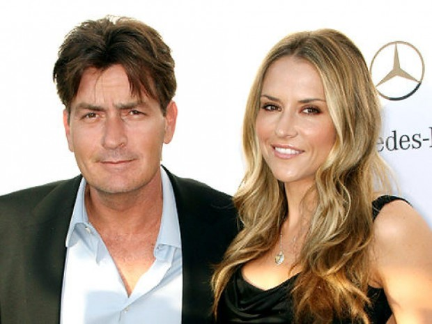 Charlie Sheen with His third Wife Brooke Mueller