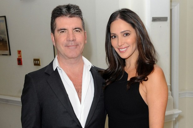 Simon Cowell with His Wife Lauren Silverma