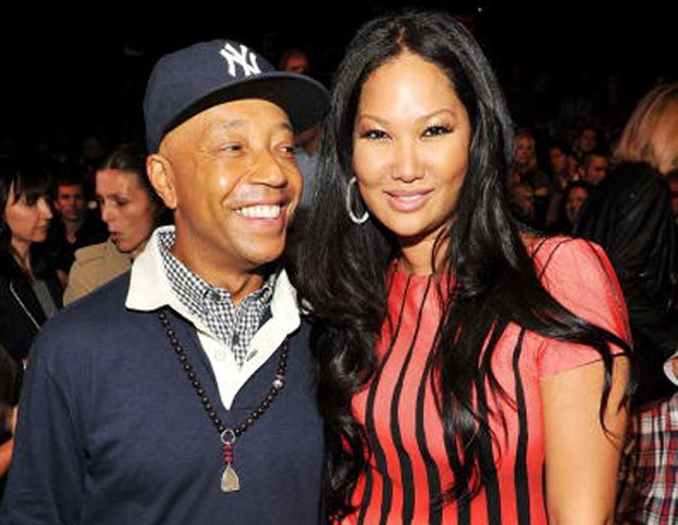 Russell Simmons with his ex-wife Kimora Lee
