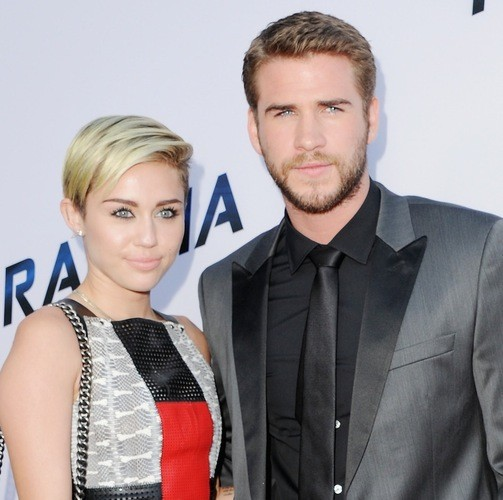 Liam Hemsworth and his Wife Miley Cyrus