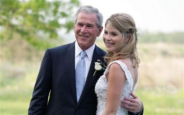 George W Bush with daughter Jenna