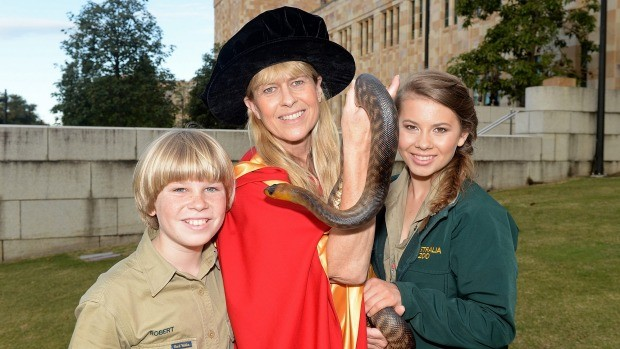 Terri Irwin after Receiving Honory Doctorate from Queens Land University